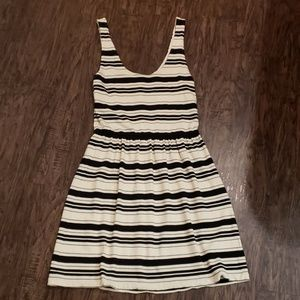 J. Crew | Striped Black and Cream Dress